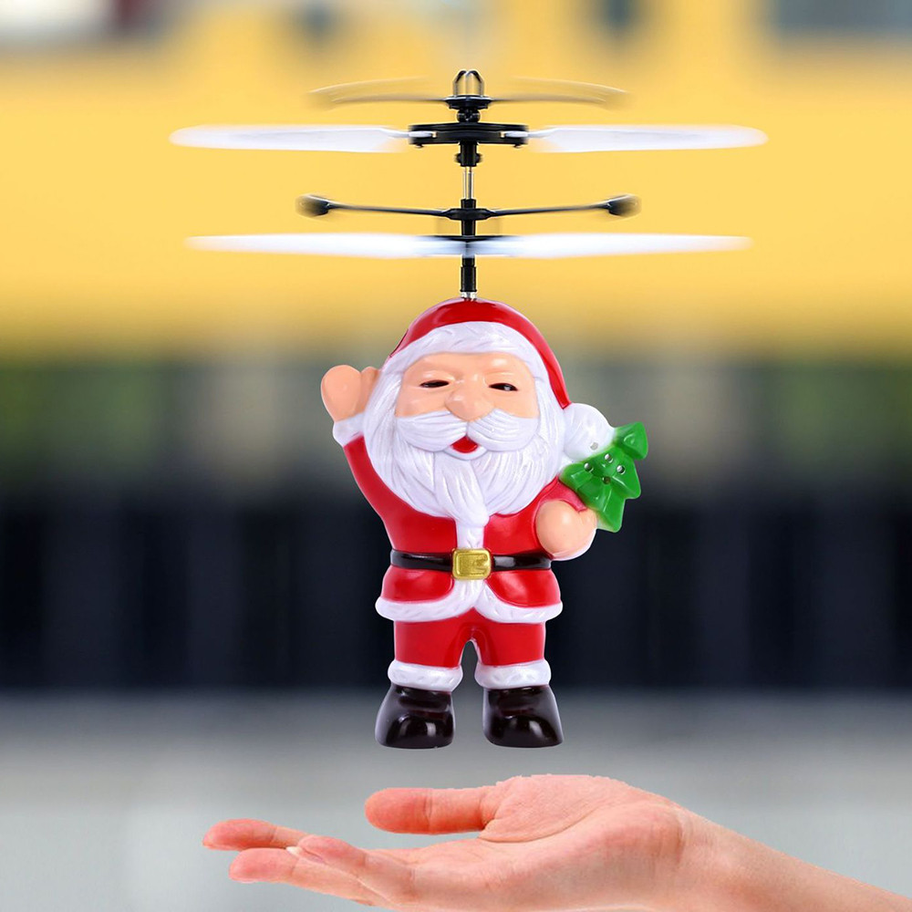 RC Mini Infraed Christmas Flying Induction Minion Drone Battery 3.7v Fly Flashing Light Aircraft Kids Toys Jly3