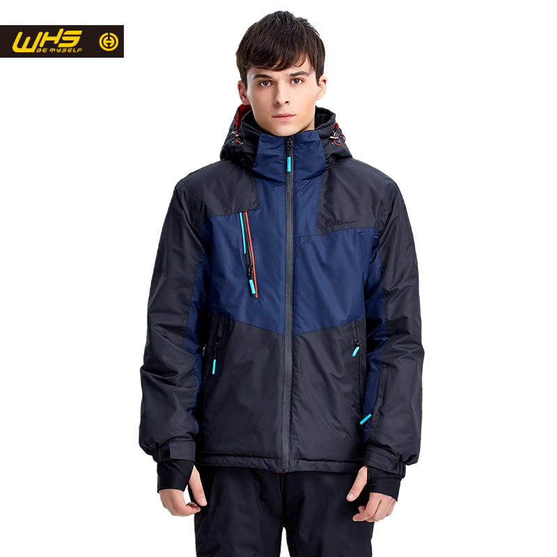 WHS hot Men Snow Ski Jacket Brand Outdoor windproof waterproof coat Man snow clothes breathable sport jackets hiking sportswear