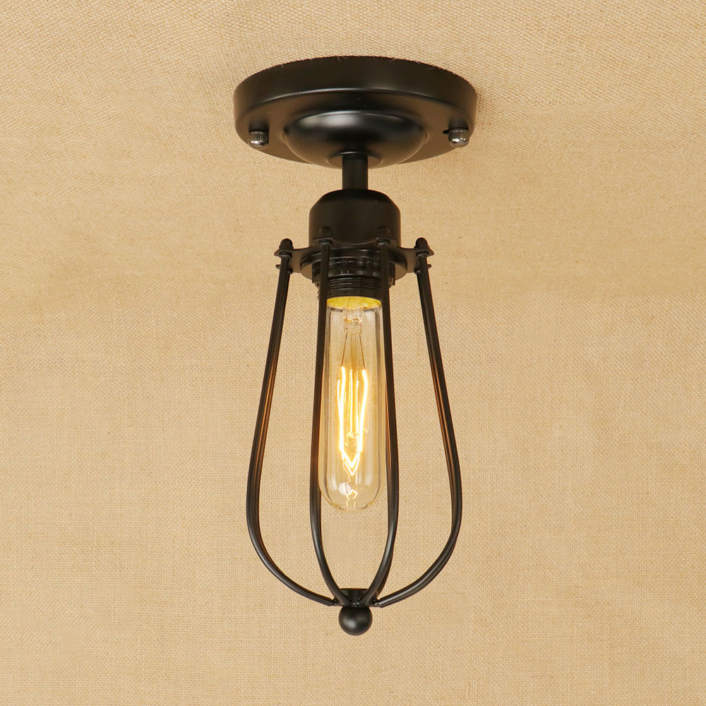 Retro E27 Track Light Spotlights Minimalist Led Ceiling: Aliexpress.com : Buy Loft Vintage Minimalism Iron Cage