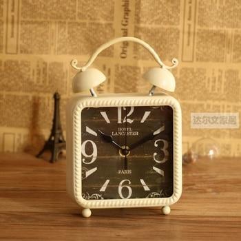 alarm clocks automobile  despertador digital watch electronic desk home decor klok masa saatial fajr clock Retro metal 6 inches