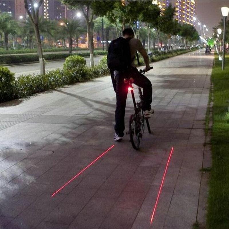 LED Vélo Vélo Lumière Nuit Montagne 5 LED + 2 Laser Feu arrière VTT Avertissement de Sécurité Lumière de Bicyclette Lampe Arrière De Vélo accessoires