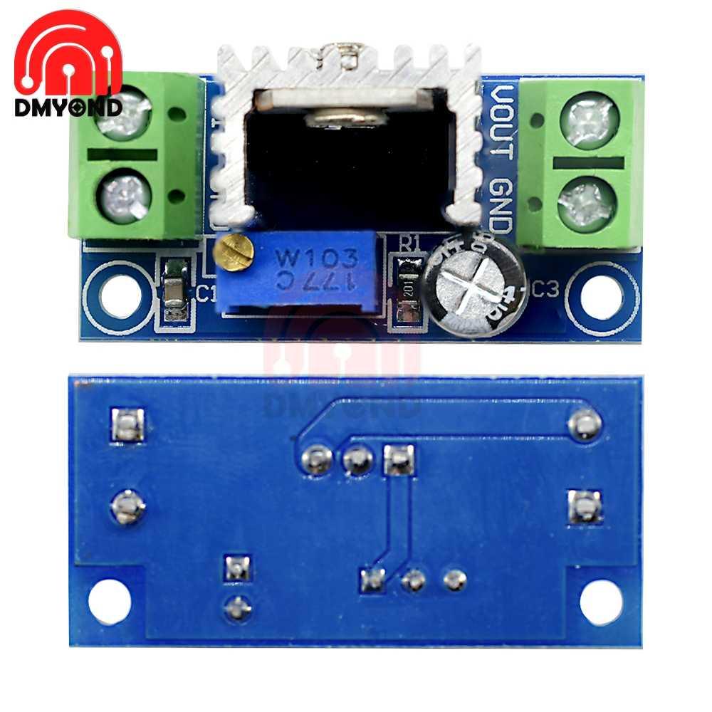 LM317 Модуль Регулируемый Линейный регулятор напряжения umax регулятор напряжения LM317 DC-DC 4,2-40 V до 1,2-37 уйти в отставку понижающий преобразователь доска