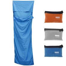 Одноместный спальный мешок лайнер Лето полиэстер понджи Портативный