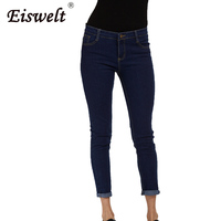 New Arrive Women Winter Ankle Jeans Plus Size Women Jeans Autumn Slim Black Pencil Jeans For