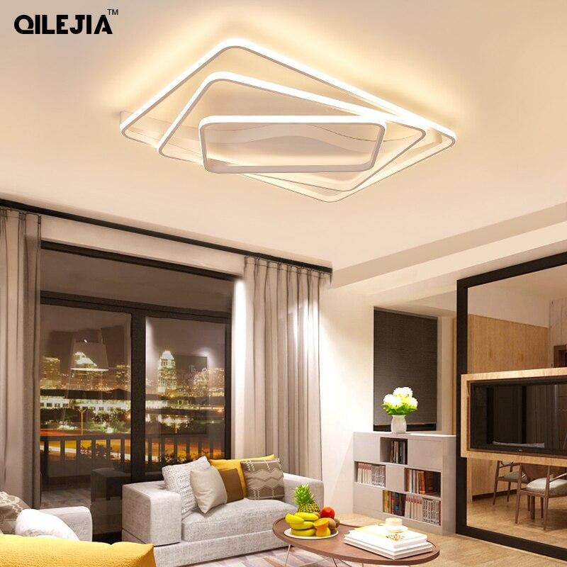 Lumières de Plafond moderne à LEDs pour le salon luminaria a mené des appareils de chambre à coucher lumière d'intérieur AC90-265v Plafond de café éclairage dimmable