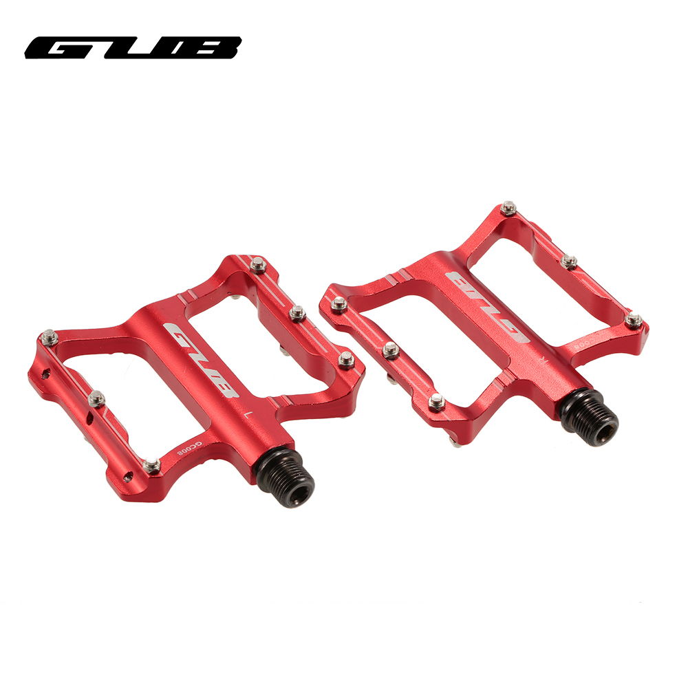 2pcs/lot GUB Gc-008 anti-skid pedal bicycle mountain bike riding equipment accessories quality Aluminum Alloy CrMo axis durable rockbros 9 16 magnesium alloy bicycle pedal titanium spindle ultralight mountain bike pedal 5 colors