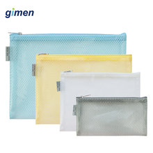 Waterproof Transparent File Bag Document Bag Grid Zipper Bag Pen Pencil Case Storage Bag File Folder Filing Product GC05-A405-A transparent file document bag 12pcs paper organizer desktop storage bag file folder filing product school office supplies hf118
