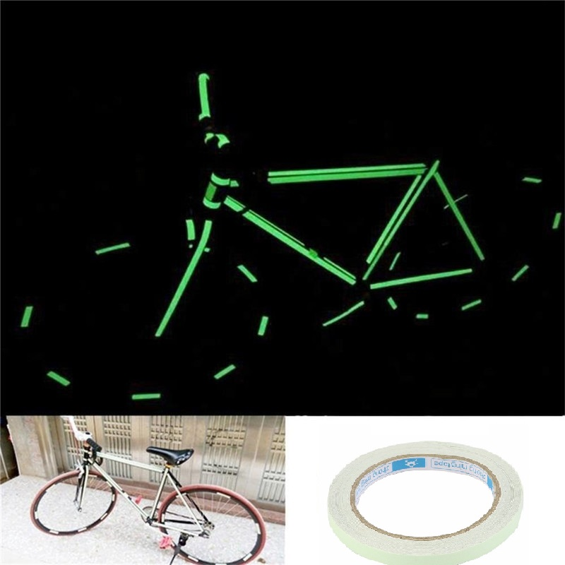 10M 10mm 12mm 15mm Luminous Tape Self-adhesive Glow In Dark Safety Home Decorations Night Vision Security Bright warning label