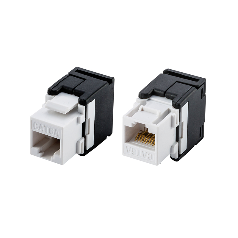 10G Network Cat6a (CAT.6A Class Ea) RJ45 Keystone Jack Network Connector -Connection Adapter image