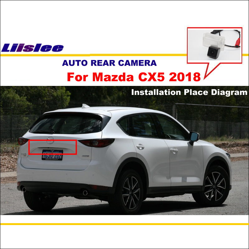 Liislee Car Back Up Parking Camera For Mazda CX5 CX-5 2018 Rear View Reverse Camera License Plate Light Waterproof Night Vision