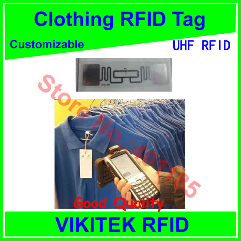 Clothing UHF RFID tag customizable  860-960MHZ 915M EPC C1G2 ISO18000-6C alien 9662 can be made to be printable tag iso 18000 6c epc gen 2 passive alien h3 uhf rfid tag for waste bin management 1000pcs lot