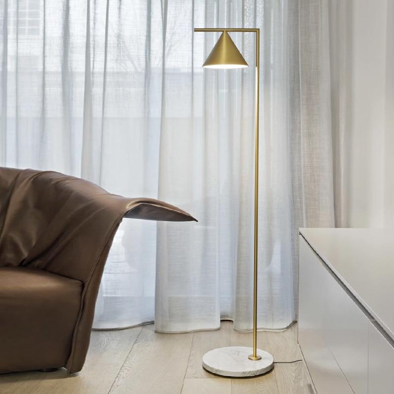 brass bedside floor light e27 bulb standing lamp modern botimi nordic copper led floor lamps for living room home lampara de pie