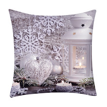 Счастливого Рождества набивная льняная Подушка Чехол Санта Клаус наволочка для декоративных подушек для дивана сиденье подушка покрытие домашний декор 18Nov