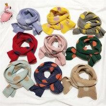 Рубин Вики осень милый точка вязаный шарф; шаль для детей мягкий длинный шарф для детей зимний теплый вязаный шарф для мальчиков и девочек