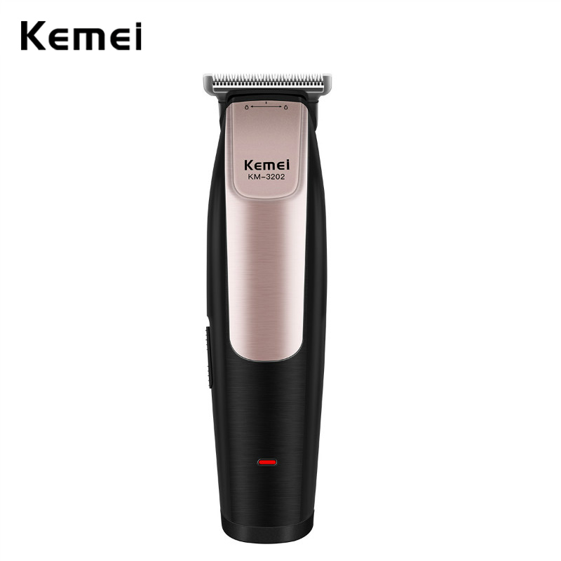 где купить kemei Trimmer Hair Clipper Beard Trimmer Razor Men Electric Hair Trimmer Men Machine Shaver Clipper km-3202 USB Charge Haircut дешево