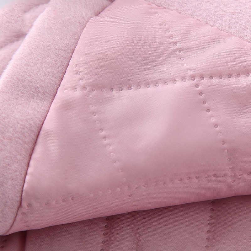 2019 Herfst Winter Meisjes Wollen Jas Roze Rood Flores Ontwerp Petal Mouwen Lange Jas voor Kinderen Leeftijd 4 6 8 10 11 12 T Jaar Oud