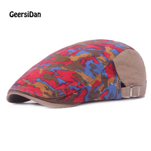 GEERSIDAN NEW arrival Fashion Camouflage Beret Hat For Men Women Gorras Planas cutton Peaked Flat Cap Casquette Boina Masculina