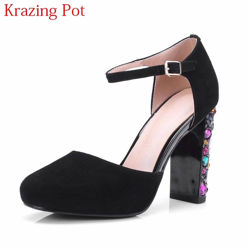 Здесь продается  2018 New Arrival Sheep Suede Bling Beading Diamond Super High Heels Women Pumps Round Toe Shallow Office Lady Nightclub Shoe L37  Обувь
