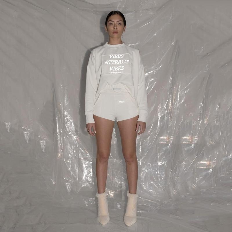 Simenual Reflective Letter Print Casual Sweatshirt Long Sleeve 2019 Autumn Fashion Hoodies Basic Women Sweatshirts Streetwear 4