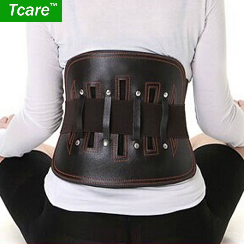 * Tcare 1Pcs Leather Waist Belt protect lumbar Slimming Lower Back Support Waist Lumbar Brace Backache Pain Relief Health Care treatment injury keep warm prevention men health care waist belt function lumbar brace