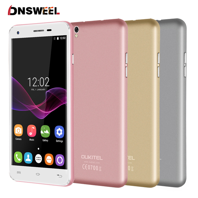 "Original u7 oukitel max 5.5 ""HD MT6580A SmartPhone Quad Core 3G del teléfono celular 1G + 8G 13MP Cámara Dual Androide 6.0 GPS teléfono móvil"
