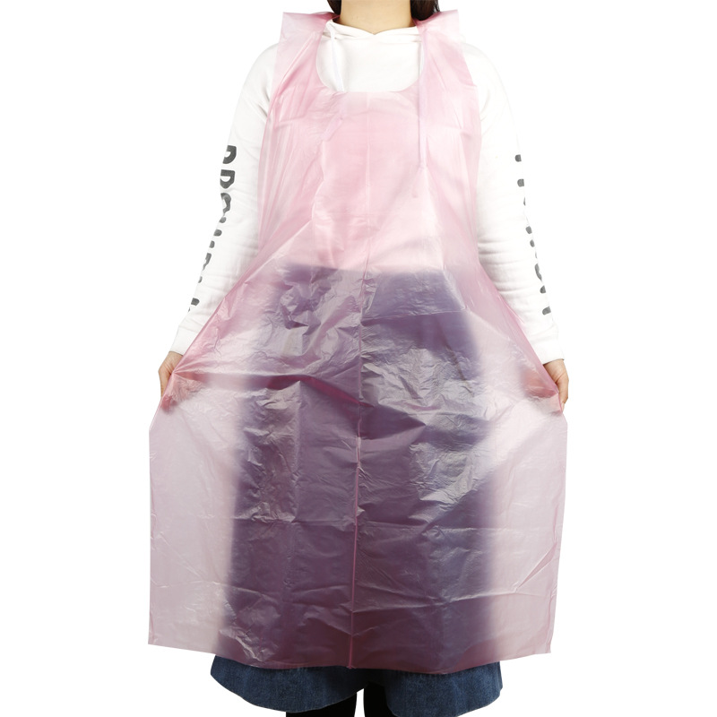 5/50/100PCS Thicken Disposable Apron Adult Plastic Waterproof Oil-proof Clothes Kitchen Hairdresser Woman Barbecue Baking Party