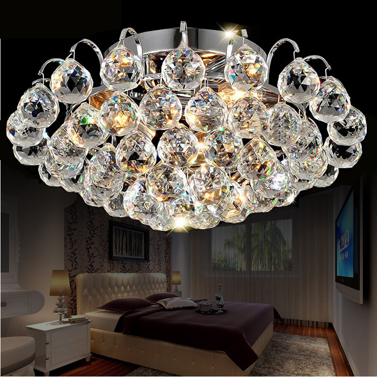 Crystal combination LED ceiling lights circular light bedroom porch light balcony corridor living room ceiling lamp ZA SJ29 modern led ceiling lights corridor light entrance porch living room ceiling light balcony lamp corridor light