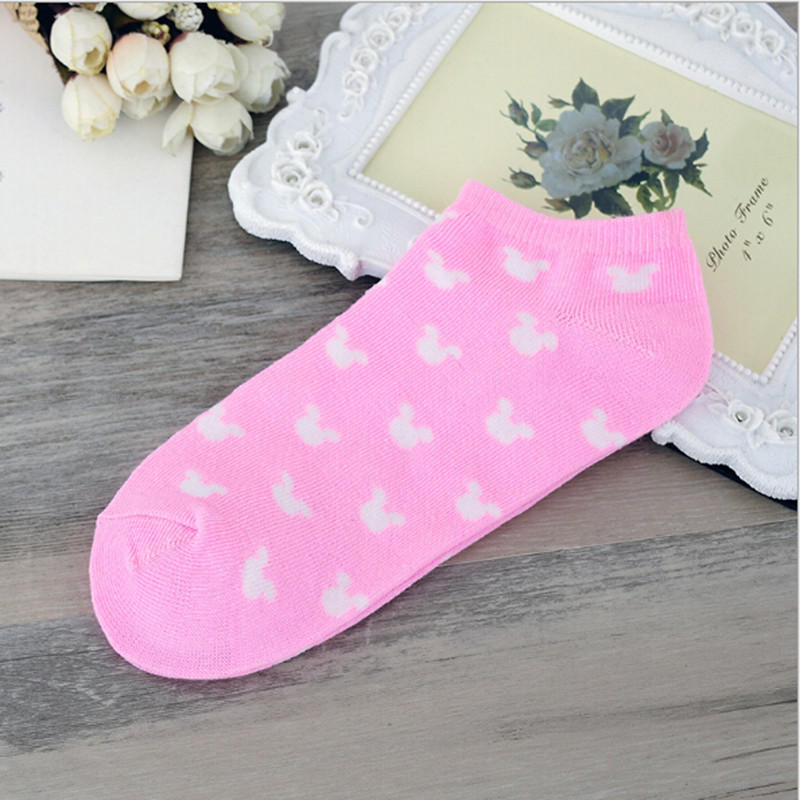 Printed Women Classic Ship Socks Summer Solid Colour Lady's Stealth Sox Cotton Low For Shallow Mouth Socks For Sports Home Wear