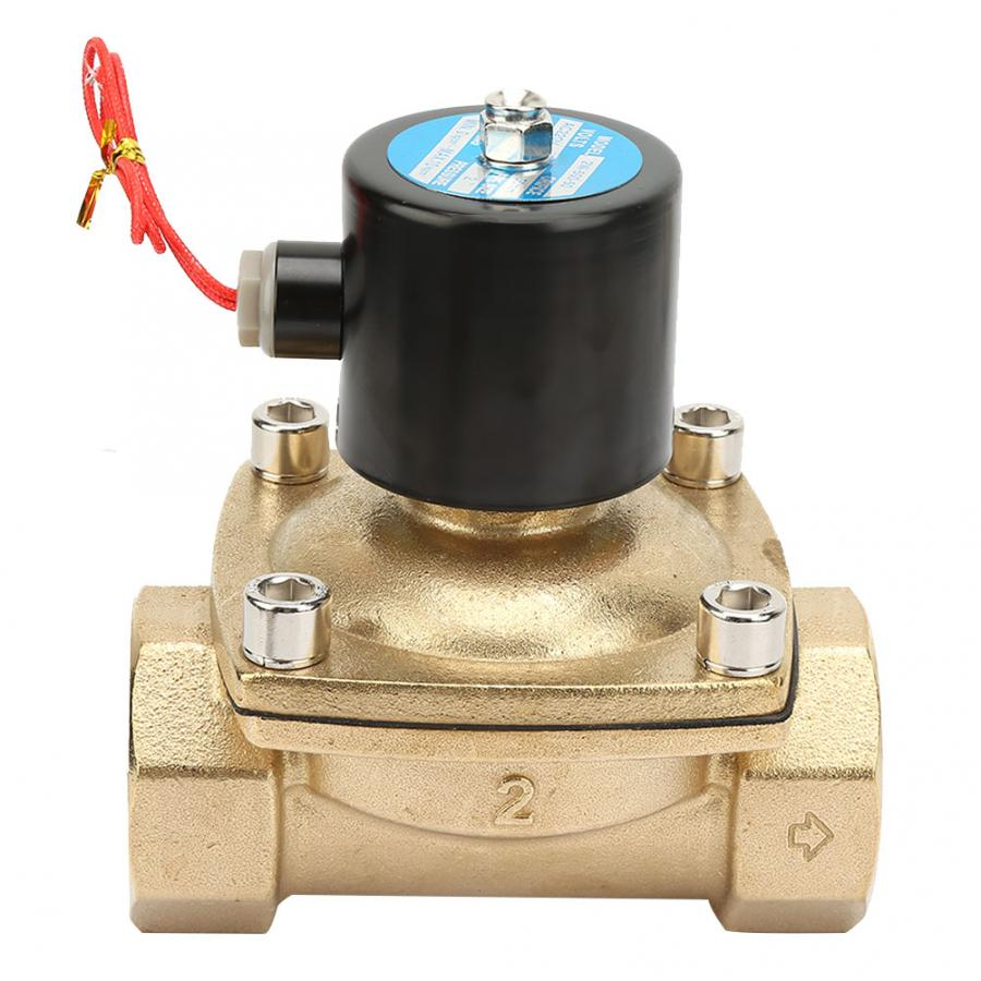 Gas Solenoid Valve Air AC220V G2 Single Direction Brass Solenoid Valve Straight Through Type Valve for Water Oil