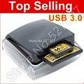 Marca Professional USB 3.0 Dual-Slot de Leitor de Cartão de Leitor UDMA 7 para UDMA CF SDHC UHS-I SDXC Cartão de Memória Frete Grátis atacado