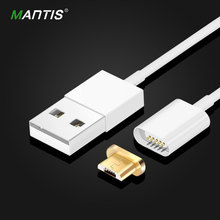 Mantis Magnetic Cable Nylon Micro Usb Cable for iPhone 6 6s 7Plus 5s 5 Lightning Cable Android Samsung Microusb Magnetic Charger