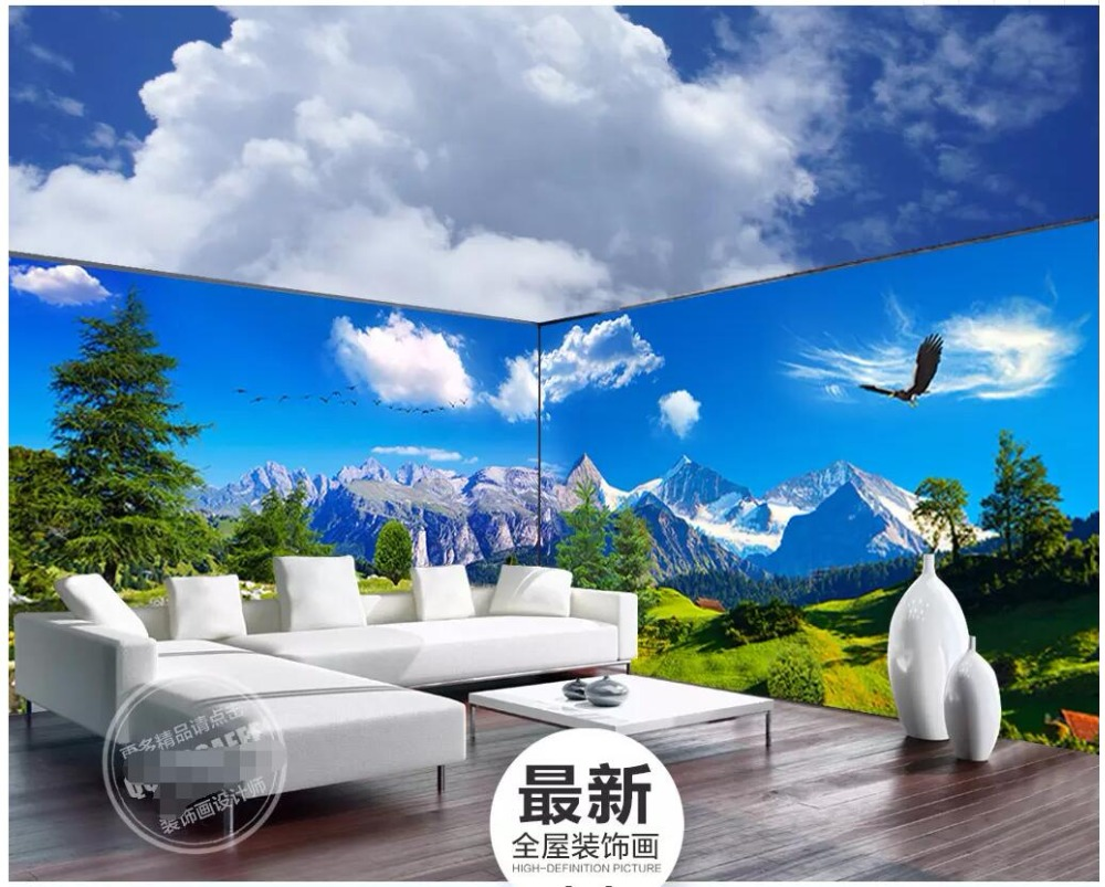 Us 1595 48 Offcustom Photo 3d Room Wallpaper Huge Forest Lake View Full House Backdrop Home Improvement 3d Wall Mural Wallpaper For Wall 3 D In