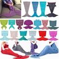 New arrival Black&White Mermaid Tail Blanket Adult/Child/Baby Mermaid Blanket Knit Cashmere-Like Sofa Blanket Christmas gift