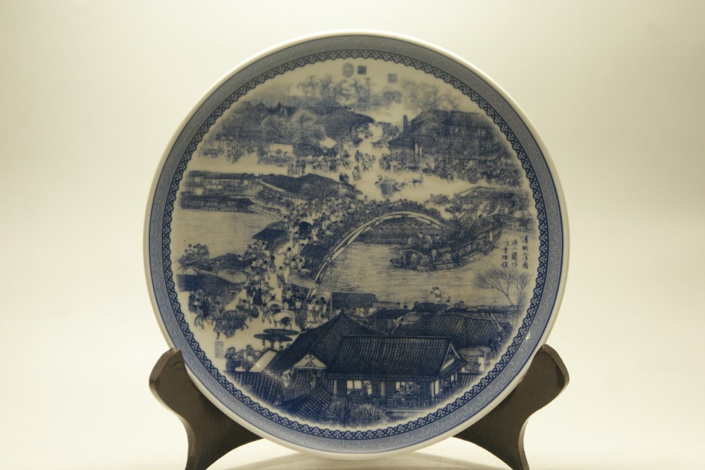 Fine Old China porcelain painted Ceramic plates Porcelain& Pottery painted Riverside Collectible Porcelain