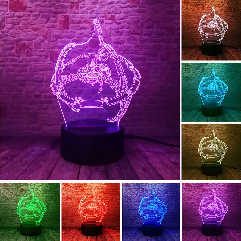 Luminous Star Wars Trek Figma Model 3D Illusion LED NightLight Colorful Touch Changing Light Trek Lightsaber Figure Toys image