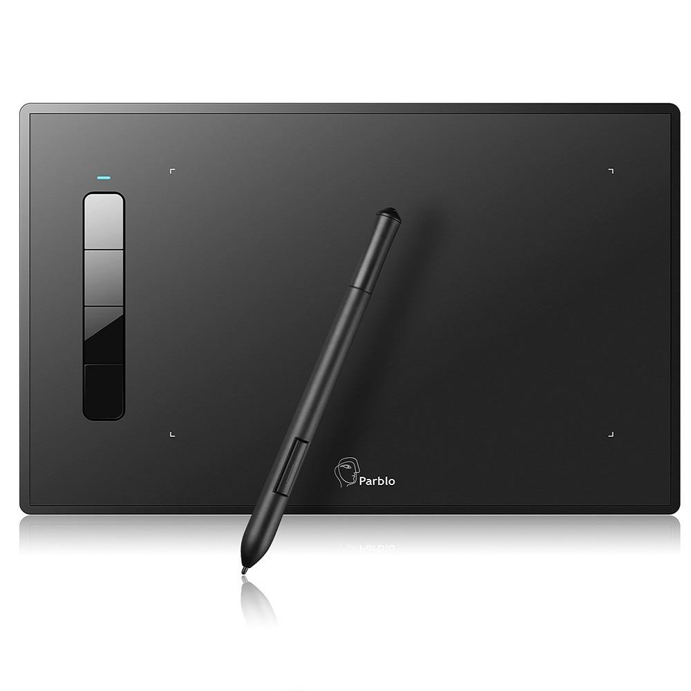 Tablette de dessin graphique Parblo Island A609 9x6 pouces avec stylo sans batterie 5080 LPI 2048 niveaux Support de pression Windows Mac XP