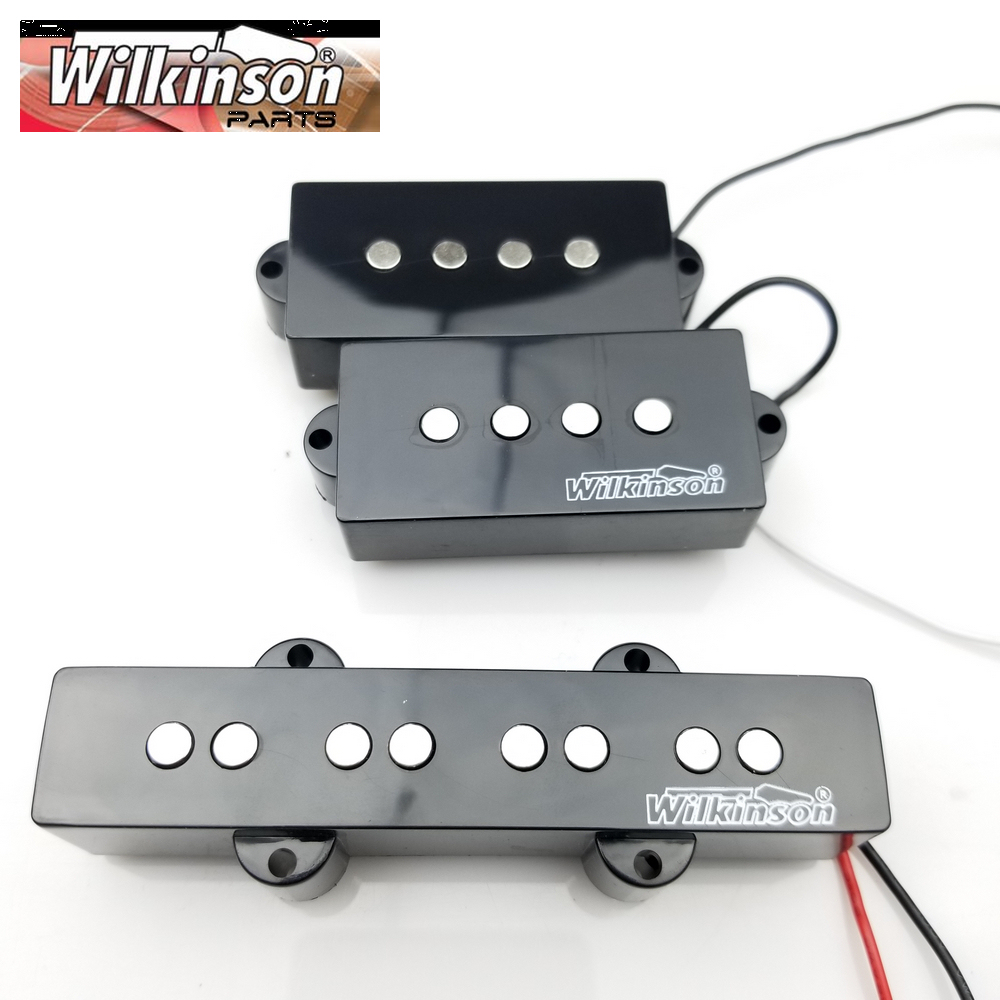 Wilkinson 4 Strings PB electric bass Guitar Pickup four strings guitar pickups MWPB+MWBJ top quality black color 4 bass electric guitar strings 2018 china low hot guitar factory sale free shipping