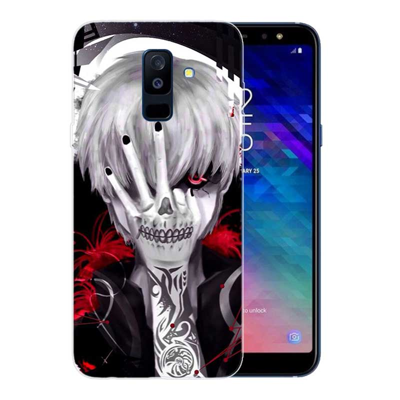 Funda Print Soft TPU Back Case For Samsung Galaxy A6 A8 Plus A5 A7 A9 Star 2018 A3 2017 A6S A8S Cover Tokyo Ghoul in Fitted Cases from Cellphones Telecommunications