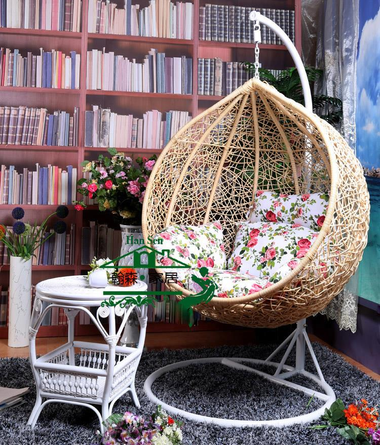 hanging patio swing chair korda accessories nest basket with armrests rattan wicker outdoor balcony ...