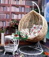 Nest Basket With Armrests Rattan Wicker Chair Outdoor Balcony Patio Swing Hanging Basket Nest Beach Chairs Rocking Chair