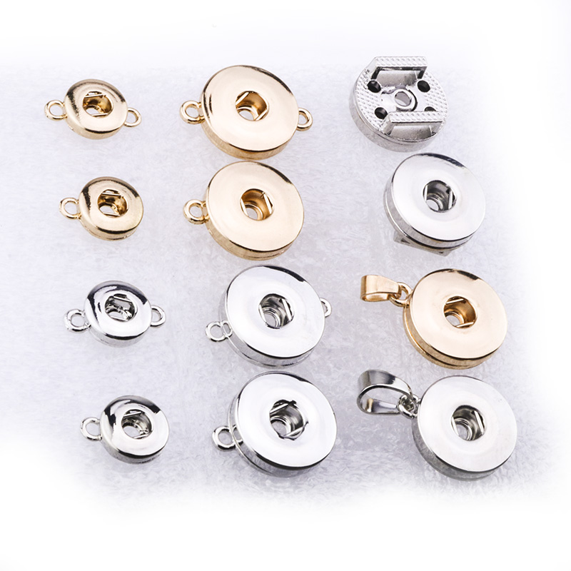 12mm 18mm Snap Button Accessories Findings Metal Button to Make DIY Snap Bracelet Necklace Snap Jewelry image