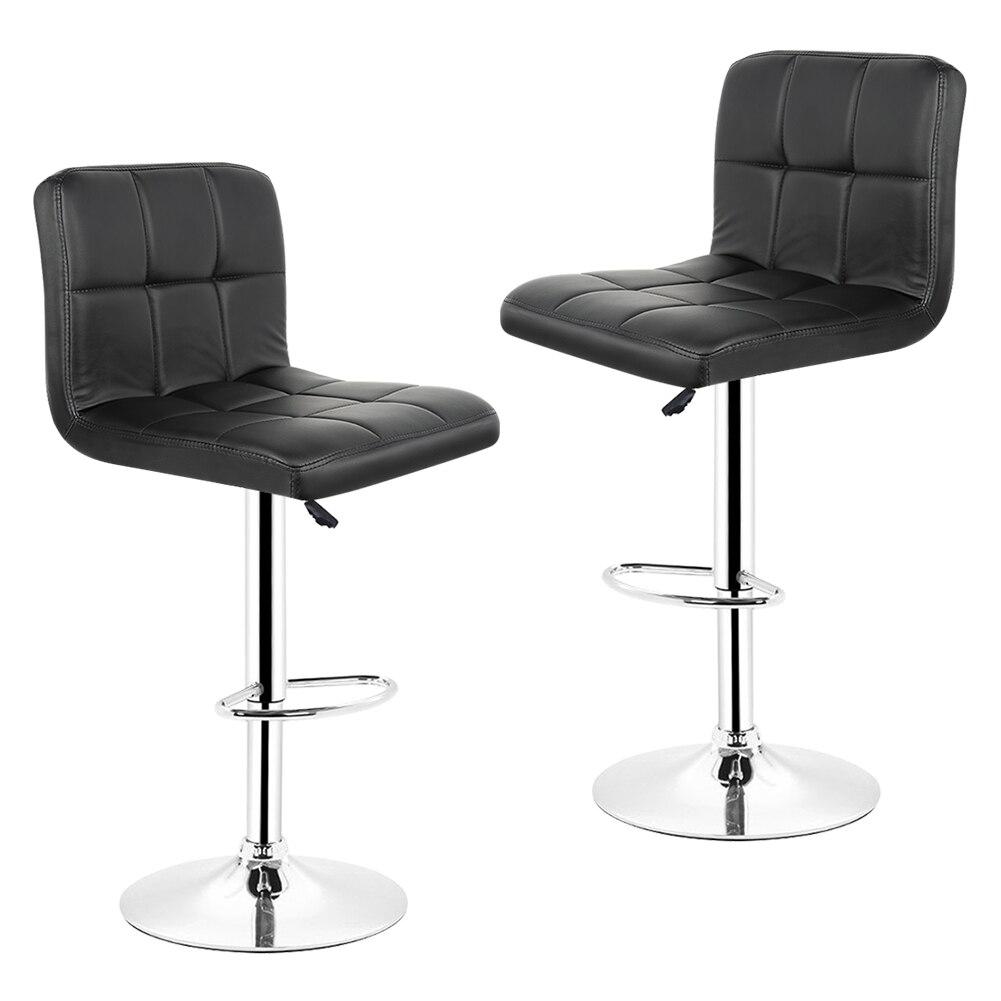 JEOBEST 2 piezas de Cuero cuero cocina, taburete de Bar barra giratoria silla colores negro envío gratis en Francia HWC