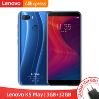 Глобальная версия lenovo K5 Play 3 GB 32 GB Snapdragon 430 восьмиядерный смартфон 1,4G 5,7
