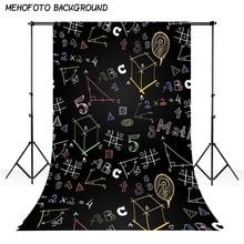 MEHOFOTO Vinyl Fotografia Back To School Geometry Blackboard Children Custom Photo Backgrounds Studio Backdrops Kids Decro lv752