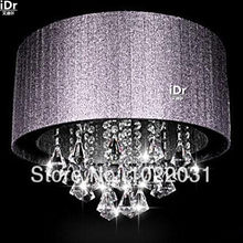 NEW LED Crystal Light shade cloth lamp minimalist chandelier crystal chandeliers factory direct project(China)
