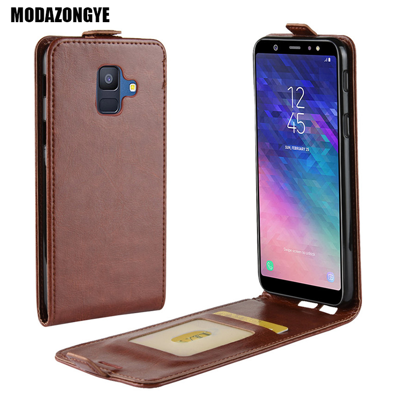 For Samsung Galaxy A6 2018 Case Samsung A6 2018 Case PU Leather Cover Phone Case For Samsung Galaxy A6 2018 A600F A 6 Case Flip