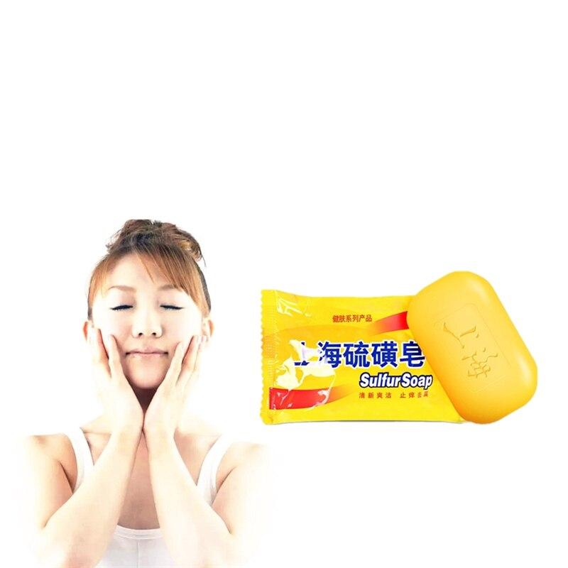 Sulfur Soap Chicken Skin Treament Repair Remove Dead Skin Goose Bumps Pimples Foliculitis Anti-bacterial Anti-inflammatory Soap