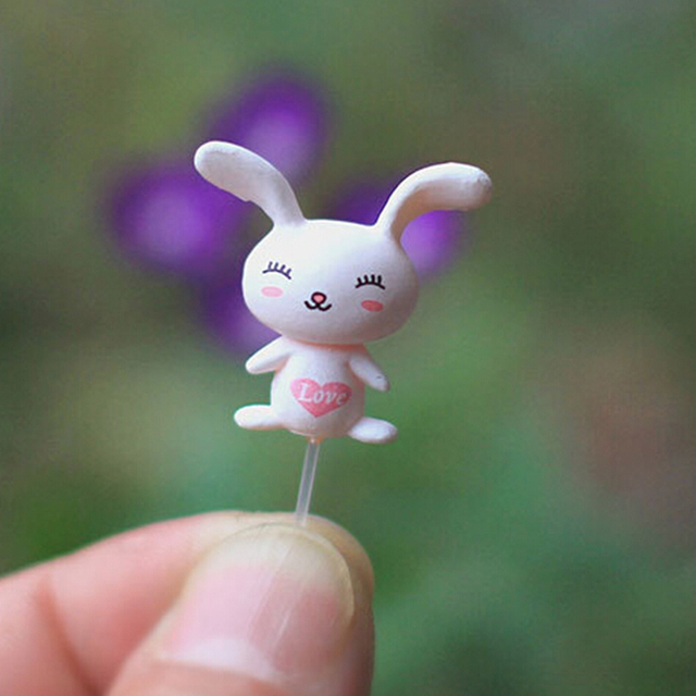 100Pcs Miniatures Fixed Pin Fairy Garden Miniatures Gnomes Moss Terrariums Resin Craft Figurines For Home Decoration 2