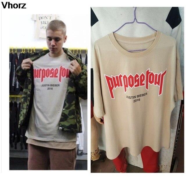a9f4f1fdc Purpose Tour T-shirt Men Women Vfiles Justin Bieber T Shirt Fear Of God Hip  Hop Skateboard Streetwear My Mama Dont Like You Tee