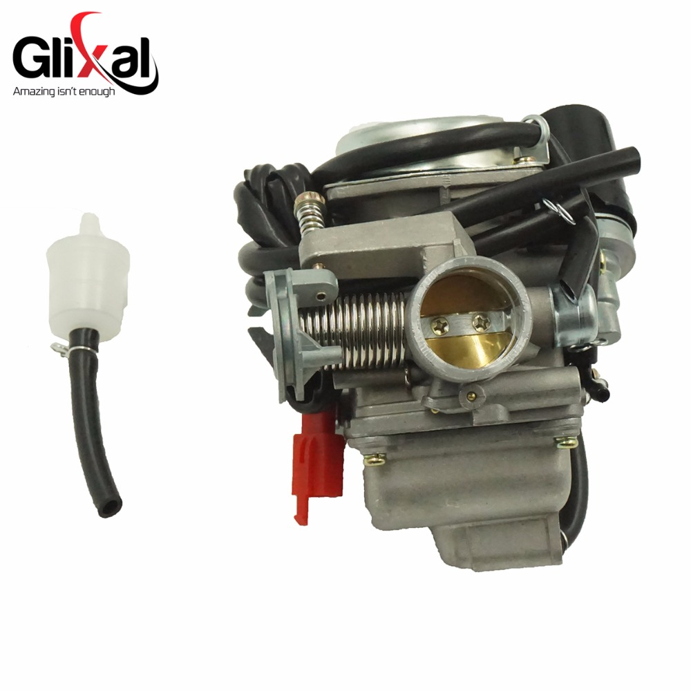 Glixal 26mm CVK Carburetor Carb with Electric Choke GY6 125cc 150cc Scooter Moped Buggy 152QMI 157QMJ ATV Go-kart Engine starpad for heroic gy6 125cc 150cc moped carburetor